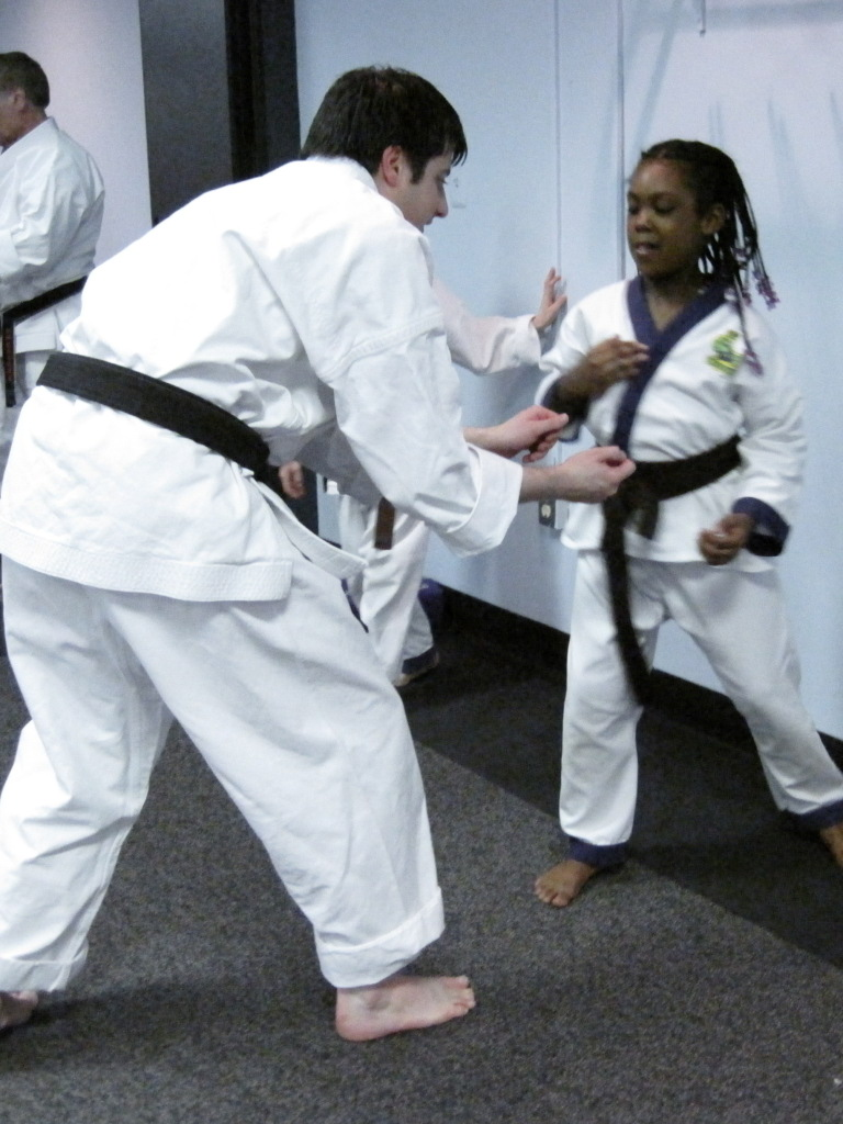 Learning self-defense techniques